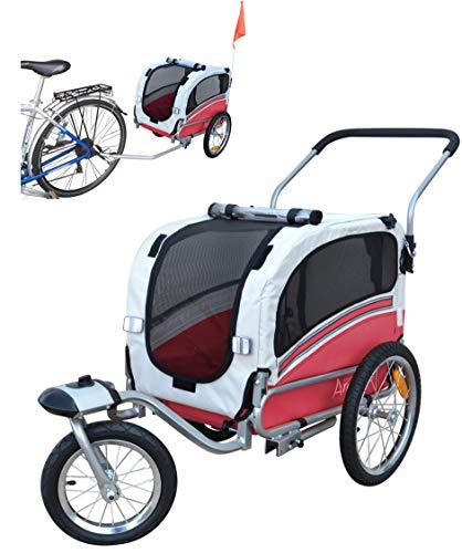 Polironeshop Argo - Remolque y carrito para bicicleta para el transporte de perros