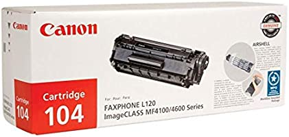 Canon 104 0263B001AA L90 L120 D420 D480 4100 4120 4150 4270 4350 4370 4690 Toner Cartridge (Black) in Retail Packaging