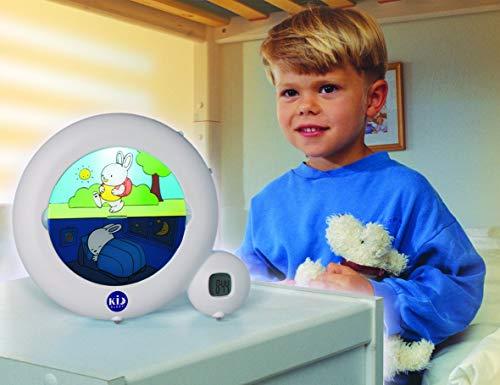 Claessens' Kid - Classic - Réveil Enfant Educatif Jour/Nuit Lumineux - Programmes Matin ou Sieste et Option Veilleuse - Blanc