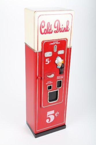 point home CD-Schrank DVD-Schrank DVD-Turm Getränkeautomat im Retrolook rot/weiß 88cm