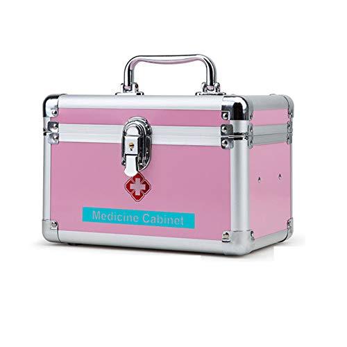 ZHYJJ Trousse de Premiers Soins Boîte de Secours verrouillable Kits de Survie Serrure de sécurité Étui de Transport de Stockage de médicaments avec poignée Portable 24,5 × 16 × 15 cm