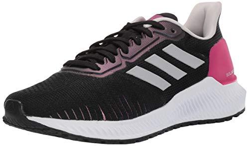 adidas Women's Solar Ride Running Shoe, Black/Grey/Real Magenta, 6 M US
