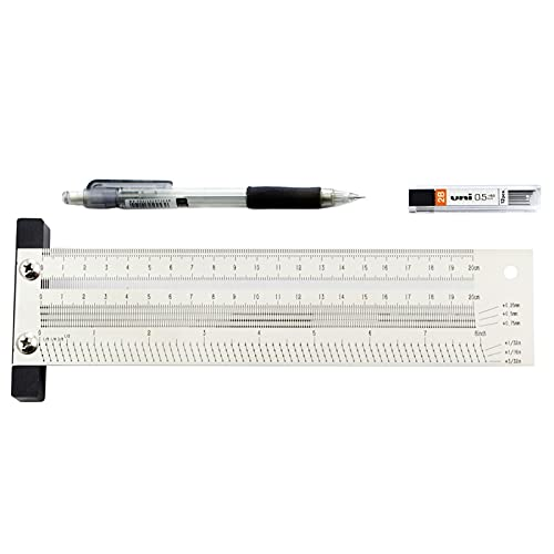 Ranking TOP1 Milwaukee Mall huanyudaeroy High-Precision T Square Stainless Scale Ruler Hole