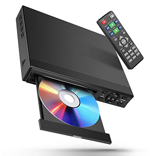 DVD Player with HDMI for TV All Region Free, ARAFUNA Small Mini DVD Player for TV, HDMI & AV Output, USB Input (Remote Control, HDMI and AV Cable Included)