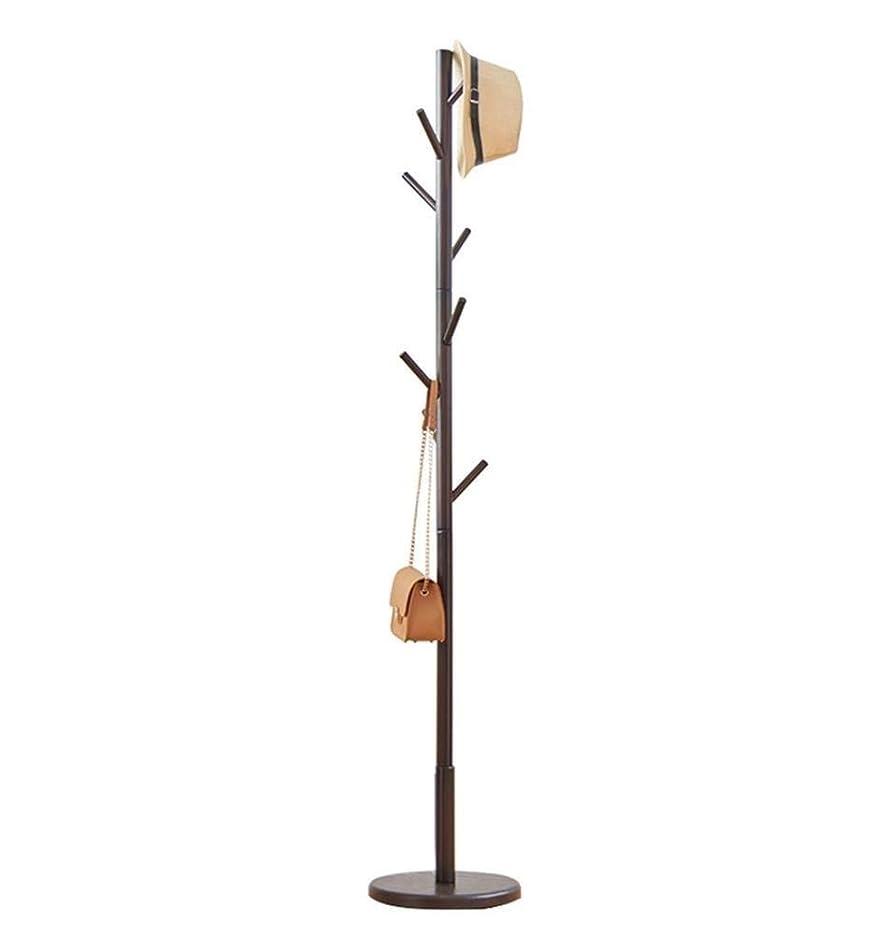 公平ないたずら保存するFNCOAK 木製コートラックハンガー着陸寝室シンプルな服ラック家庭用垂直リビングルーム (色 : 黒)