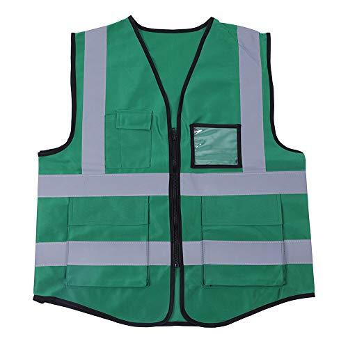 FAMKIT Multicolor Reflektierende Weste Sicherheit Sicherheit Weste (Grün)