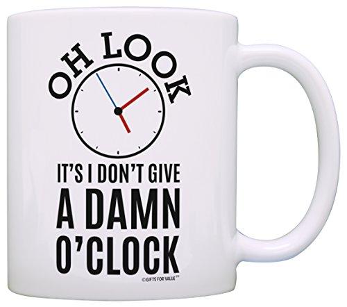 Happy Retirement Gifts for Women Oh Look Clock Funny Retirement Gifts for Men Retired Coffee Mug Tea...