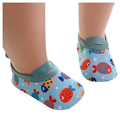 Escarpines Agua Bebés Niño Niña Infantiles Calcetines Calzado para Niños Pequeños Antideslizantes Calzado Interiores Verano Zapatos Agua Chico Chica Descalzos Ligero Piscina Nadar Natación Bebé