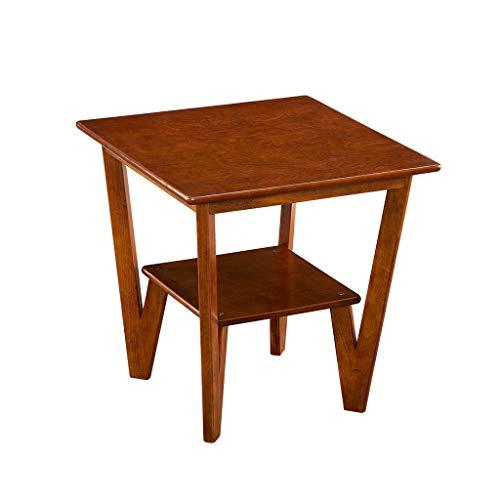 ZIJUAN Table Basse Table De Chevet Salon Salle À Manger Canapé-lit Rangement Rangement Table De Coin - Couleur Noyer 58 * 58 * 58cm