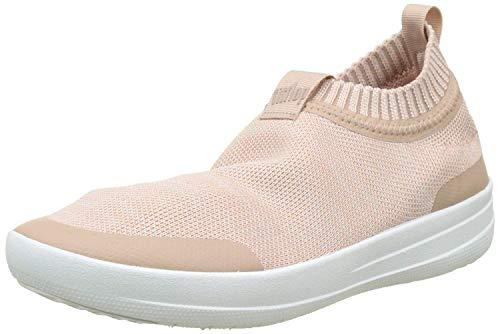 FitFlop Women's Sneakers Walking Shoe, Neon Blush/Urban White, 8.5