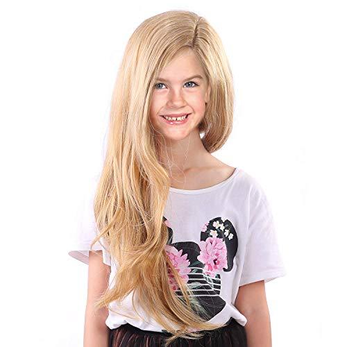 Tangled Rapunzel Wigs for Kids Girls Long Blonde Princess Children Wig (Yellow-Girl)