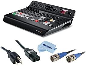 Blackmagic Design ATEM Television Studio Pro HD Live Production Switcher, 4X HDMI, 4X SDI Inputs - Bundle with 6' Standard PC Power Cord 18/3 SVT, HD 3G-SDI BNC to BNC Cable, 25', Microfiber Cloth
