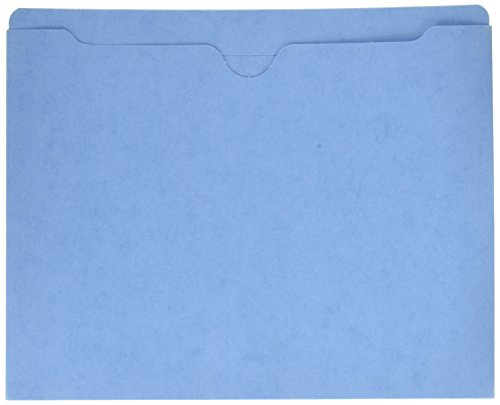 Sparco File Jacket, Letter, 11 Point, Flat, 50 Capacity, 100 per Box, Blue (SPR26558)