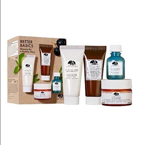 Origins Skincare Gift Set $67 Value Full Size Ginzing Refreshing Eye Cream, Spot Remover + Sample Size Checks and Balance Cleanser, Night a Min Cream