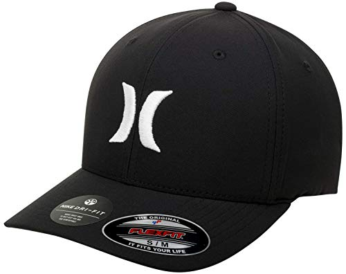 Hurley M Dri-Fit One&Only 2.0 Hat Gorra, Hombre, Black/White, S/M