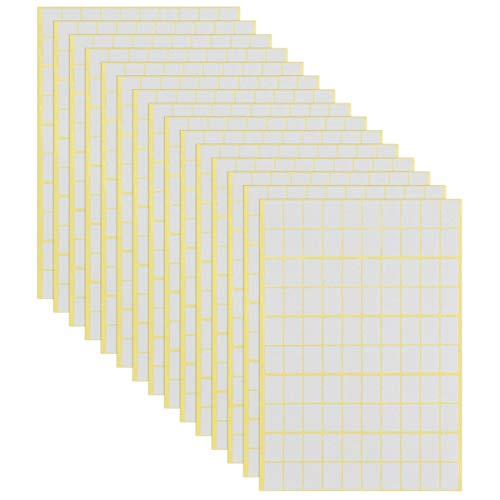 Jinlaili 15 Fogli Etichette Adesive Bianche, 1485 pezzi Etichette Piccole Adesive, 13x19mm, Cartelle di File Etichette Etichetta Prezzo Etichette Codice Colore Vari usi Etichette