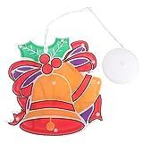 SOIMISS Navidad Decoración Campana Ventosa Luz Luces de Noche Luces de Navidad para Ventana