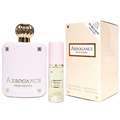 Arrogance Pour Femme Edt 75 ml Eau de Toilette Spray + 30 ml Eau de Toilette Spray