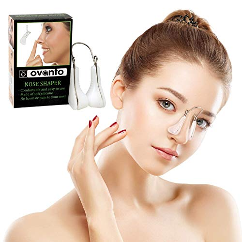 OVANTO Nose Shaper Lifter Clip - Soft Silicone Nose Clip Bridge Straightener Corrector Nose Shaper for Wide Noses - Rhinoplasty Nose Shaper Clip for Nose Uplifting and Shaping-Unisex Nose Lifter Clip