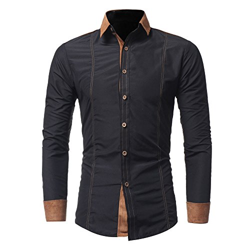 Verkoop Heren Casual Shirt Effen Kleur Lange Mouw Zakelijke Formele Tops Slim Fit Katoen Linnen Geruit Jurk Shirt Turn-Down Kraag Button Down Suit Britse Stijlvolle Blouse