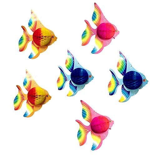 Sayala 6 Stücke Hängedeko Set, Tropische Fische Spiral Girlanden für Kinderzimmer Junge Kindergeburtstag Deko Hängedekoration