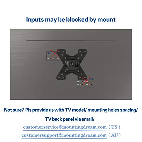 Mounting Dream Full Motion Monitor Wall Mount TV Bracket for 10-26 Inch LED, LCD Flat Screen TV and Monitor, TV Mount with Swivel Articulating Arm, Monitor Mount Up to VESA 100x100mm and 33LBS MD2463 Photo #4