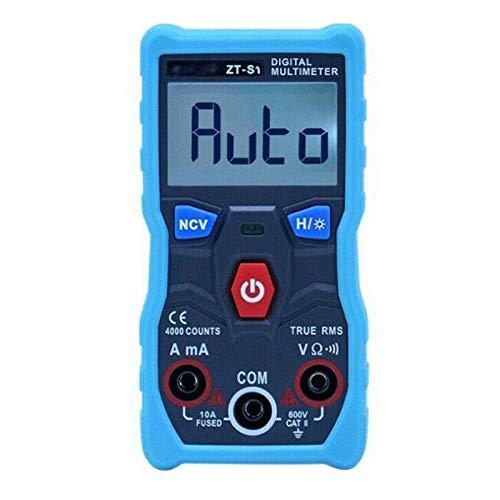ZYANUGR Digital Multimeter DC AC Voltmeter, Bluetooth Wireless APP Control Tester, mit Ohm Volt Amp und Dioden Voltage Tester Durchgangstest