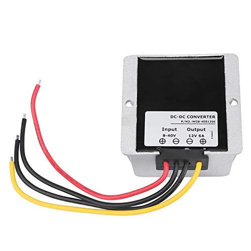 Módulo de impulso, DC8V ~ 40V a 12V 6A 72W Módulo regulador de voltaje de aumento/reducción automático del convertidor de aumento/reducción