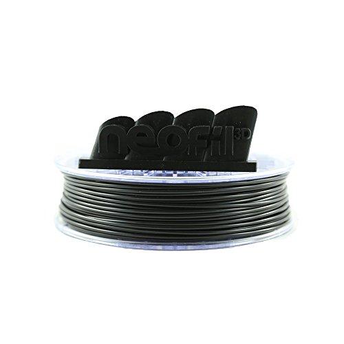 Neofil3D, filamento 3D, filamento Pla 2.85, nero, 250 g.