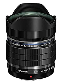 Olympus M.Zuiko Objectif Digital ED 8mm F1.8 PRO, focale fixe lumineuse, compatible tout appareil Micro 4/3 (modèles Olympus OM-D & PEN, Panasonic série G), Noir (B00X6BSF4I) | Amazon price tracker / tracking, Amazon price history charts, Amazon price watches, Amazon price drop alerts