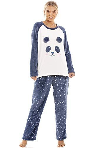 Conjuntos de Pijama de Personaje de Lana Polar súper Suave y cálida para Mujer 46/48 Blue Panda