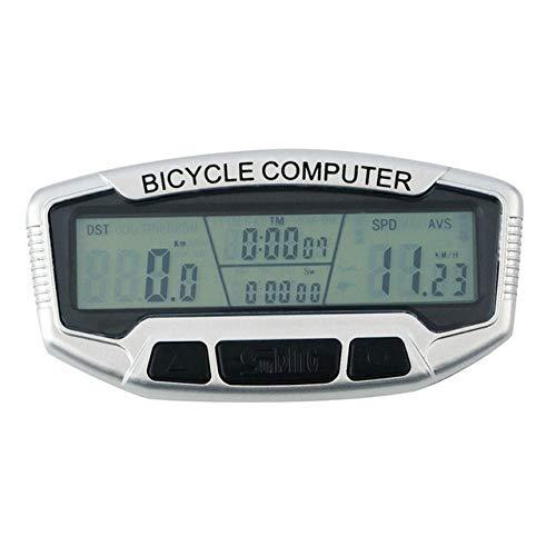 Multifunzione calcolatore della Bicicletta Bici Wired LCD in Bicicletta Contachilometri Luminous Notte tachimetro Grande Schermo Bike Computer (Color : 0)