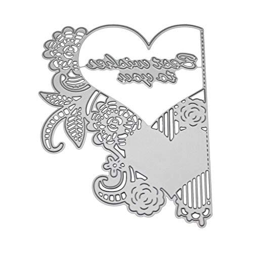 Bogji - hart uitnodiging metaal stansvormen sjabloon DIY scrapbooking album stempel papier kaart reliëf craft decor