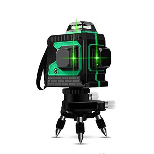 3D Kreuzlinienlaser Grün Laser Wasserwaagen,12 Laserlinie 3x360 Horizontales und vertikales Kreuz grüne Laserstrahllinie,15-30m Arbeitsbereich