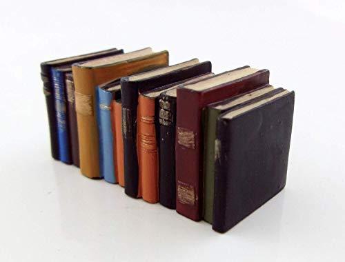 Houseworks, Ltd. Maison de Poupées Bureau Miniature Bibliothèque Bureau Accessoire Rangée de Old Porté Livres