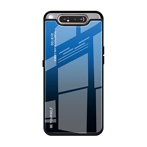 Panzerglas Schutz kompatibel mit Galaxy A80 Hülle Galaxy A80 Hart Handyhülle Trendiger Stil Ultra Dünn Anti-Rutsch Anti-Fingerabdruck Hardcase (4, Galaxy A80)