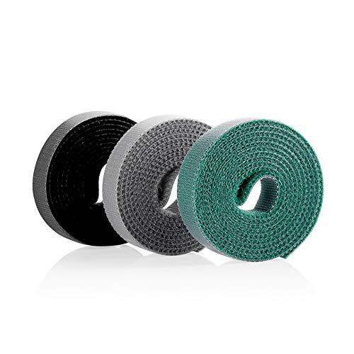 organizador cables,gancho y bucle correas,3 * 1.2 * 100cm ajustable cierre de...