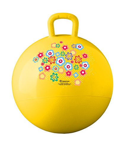 Hedstrom Whimsy Hopper Ball (55-8301) , 15 Inches -Flowers, Yellow