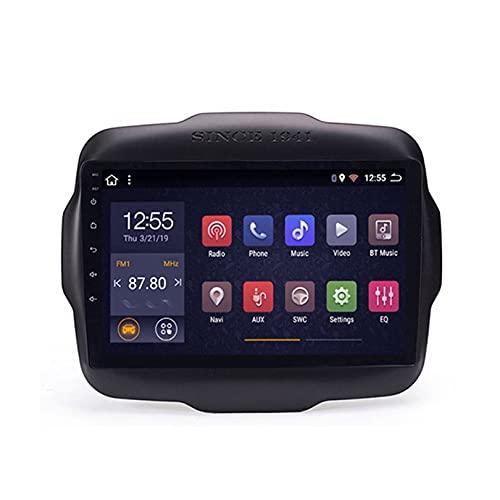 ADMLZQQ Adecuado para Jeep Renegade 2016-2018, Radio EstéReo Multimedia para Coche, Pantalla TáCtil HD, Soporte De NavegacióN GPS, Enlace Espejo/Llamada Manos Libres