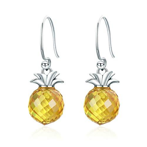 Tcn 925 Sterling Silber Zirkon eingelegte Ananas baumeln Ohrringe,...