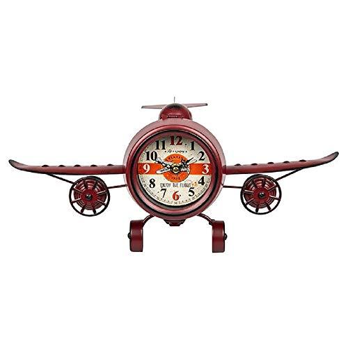 Verleden tijden Retro Vliegtuig Klok