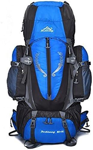FERFERFERWON Sac de sacage Sac d'alpinisme Professionnel de Grande capacité 85L Support de Suspension imperméable extérieur Sac d'alpinisme (Bleu) Conteneur de Voyage