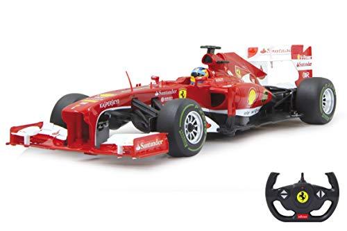 Jamara 403090 Auto Ferrari F1 1:12 2,4GH-zoffiziell lizenziert, bis zu 1 Stunde Fahrzeit bei ca. 9 Km/h, perfekt nachgebildete Details, hochwertige Verarbeitung, rot