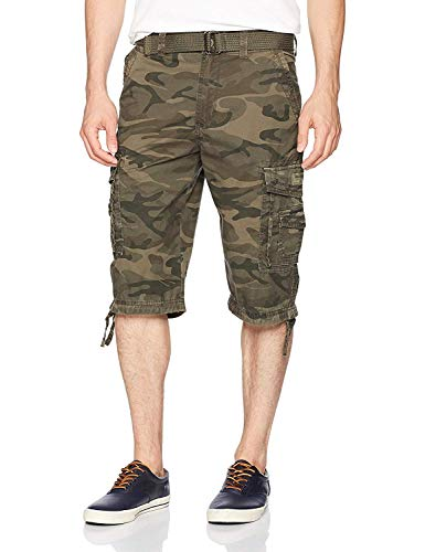 Unionbay Men's Cordova Belted Messenger Cargo Short - Reg and Big and Tall Sizes, surplus camo, 32