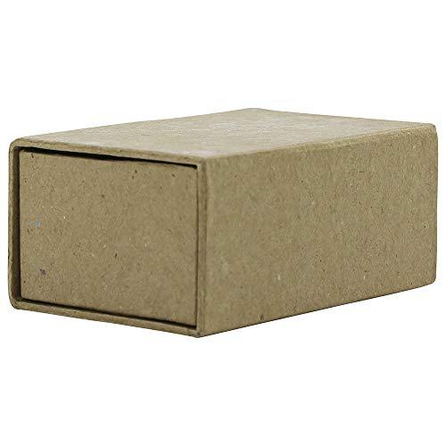 Décopatch BT041C Streichholzschachtel (aus Pappmaché, Herzenform, zum Verzieren und Personalisieren, 6 x 9 x 4cm) 1 Stück kartonbraun