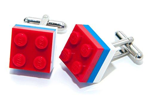 Jeff Jeffers Lego Brique USA Amérique Boutons de Manchette Olympiques Country Drapeau