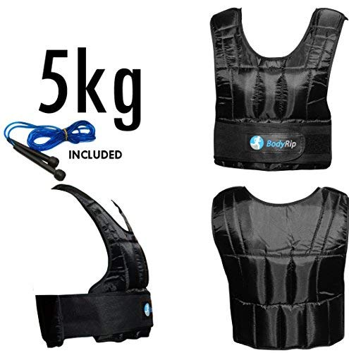 BodyRip Weight Vest Comfort Padded Deluxe 2.0 Design   One Size Fits...