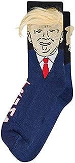 TOOGOO Trump Socks Funny Print Adult Casual Crew Socks 3D Hair Skateboard Socks Chaussette Homme Hip Hop Art Socks