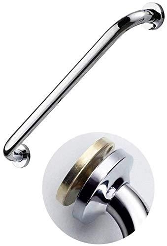 WANGXIAOYUE Suministros para hoteles Latón Pulido pasamanos Ducha, Montaje en Pared Soporte de Seguridad Barandilla for baño y WC Bañeras Assist Antideslizante Grip (Color : Silver, Size : 47CM)