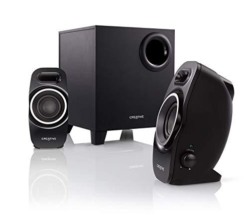 CreativeSBSA250コンパクトサイズで重低音の効いたパワフルサウンドを再生する2.1スピーカーシステムSP-SBS-A250